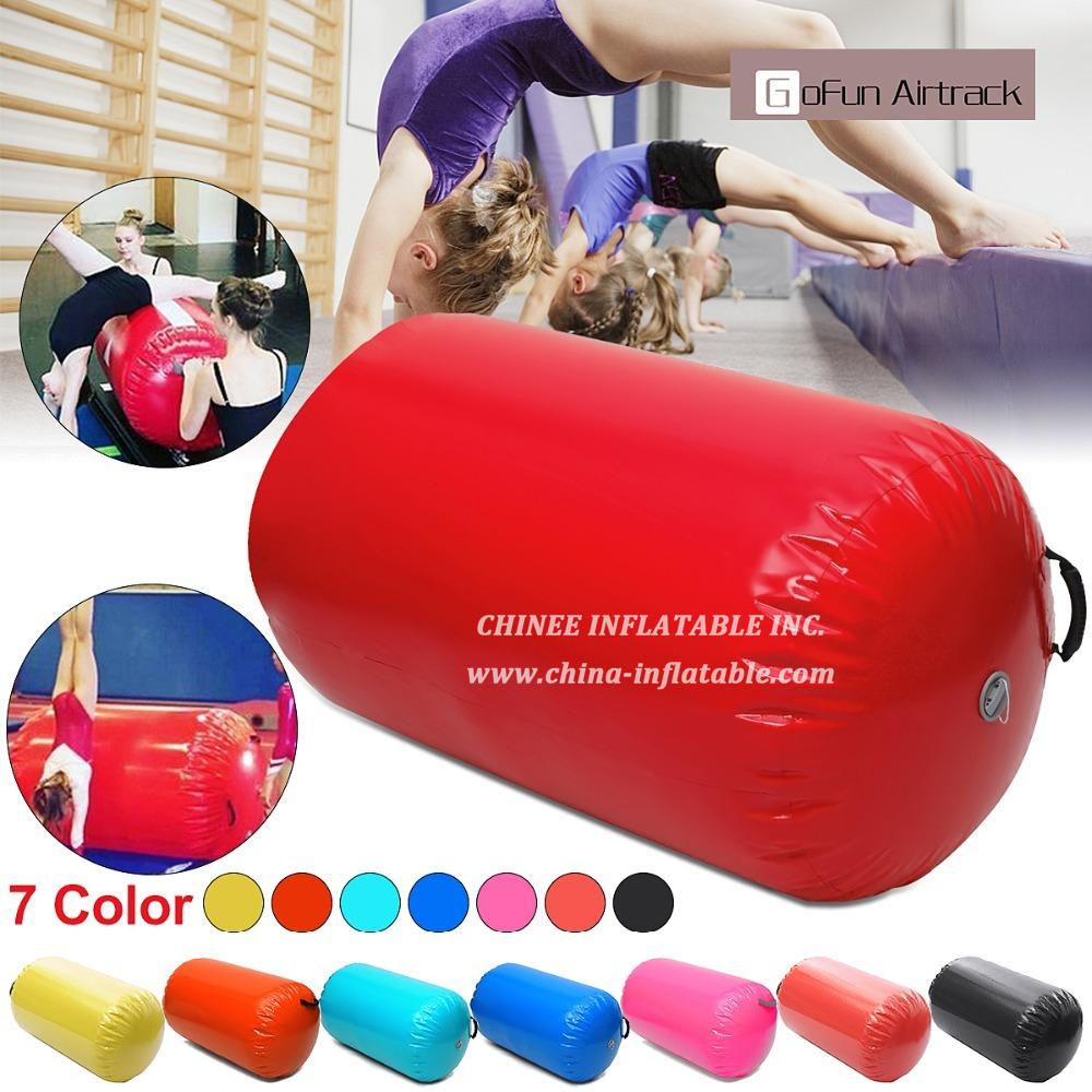 AT1-022 Inflatable Bouncer Juegos Inflables 100x60cm Fitness Inflatable Air Roller Home Large Yoga Gymnastics Cylinder Gym Mat Beam Hot