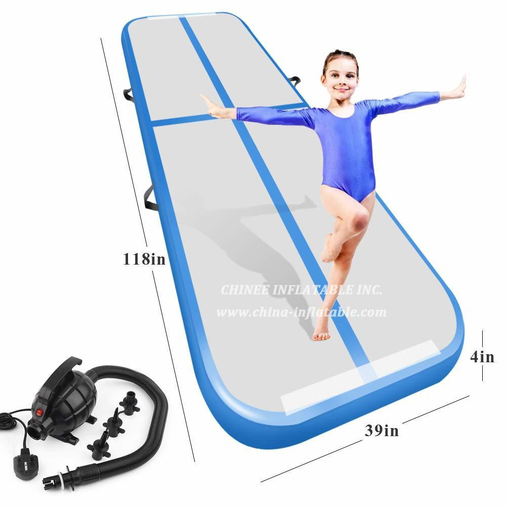 AT1-032 Inflatable Air Track Tumbling Mat For Gymnastics Airtrack Floor Mat For Home Use Cheer Training Tumbling Cheerleading Beach Park