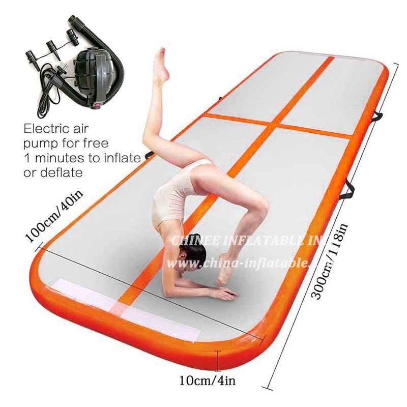 AT1-038 Big Discount 100*300*10cm Airtrack Inflatable Air Tumbling Air Track Gymnastics Mats Training Board Equipment Floor