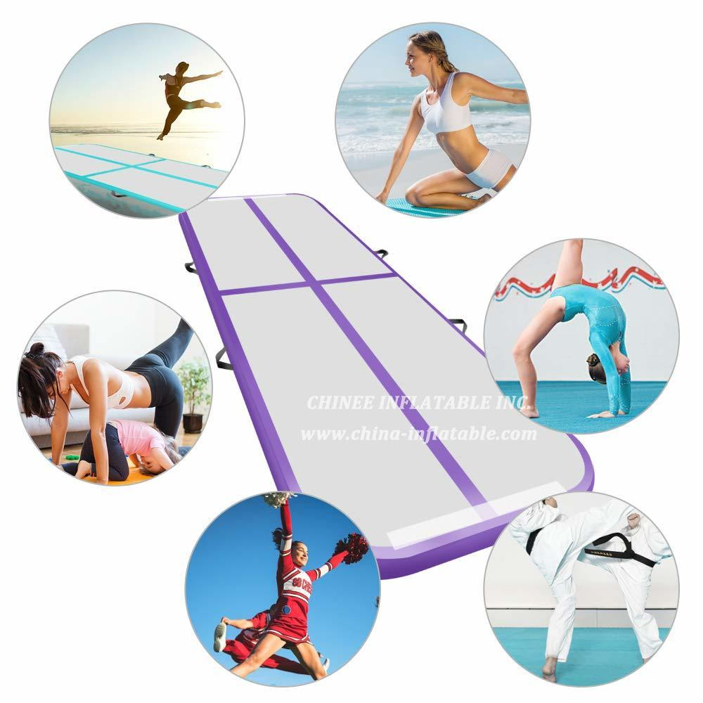 AT1-042 Inflatable Gymnastic Mat Taekwondo Flip Mat Household Air Track Floor Trampoline Yoga Mat Parkour Multifunctional Sports Mat