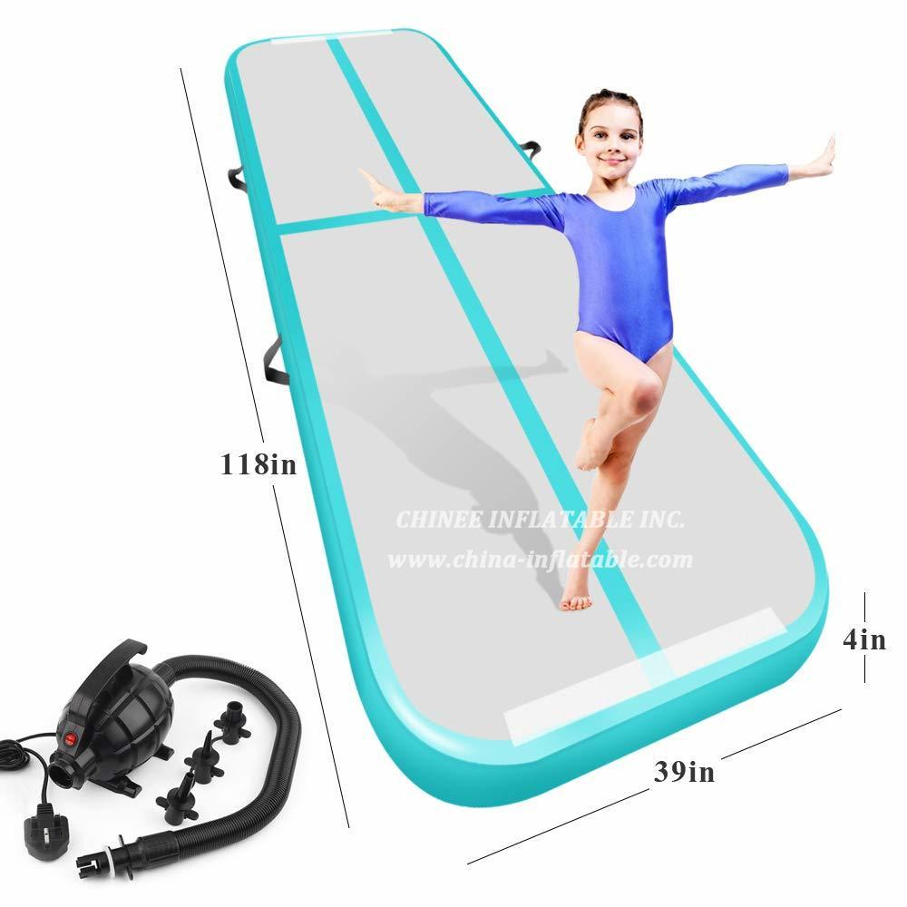 AT1-045 Inflatable Gymnastics Airtrack Tumbling Air Track Floor Trampoline Electric Air Pump For Home Use/training/cheerleading/beach