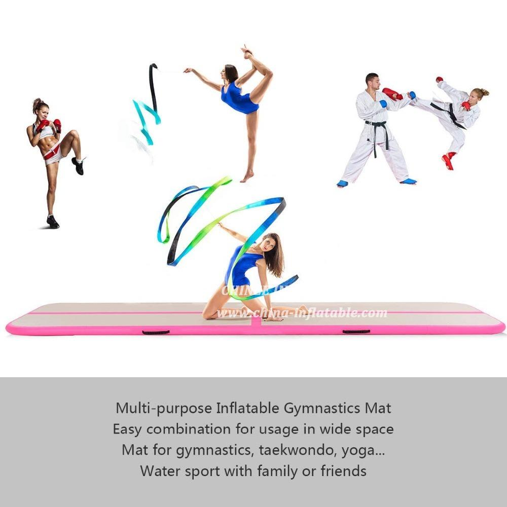 AT1-047 Inflatable Airtrack 3x2x0.2m Gym Mats Tumbling Track For Cheerleading, Gymnastics Training, Beach, On Water, Home Use