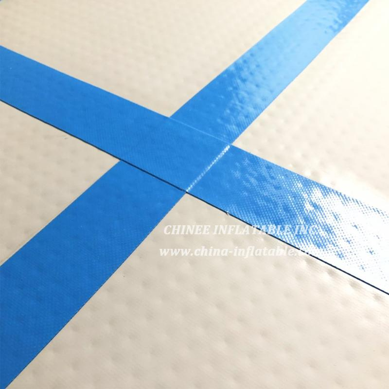 AT1-050  Blue Inflatable Gymnastics Airtrack Floor Tumbling Air Track For Kids Free One Pump