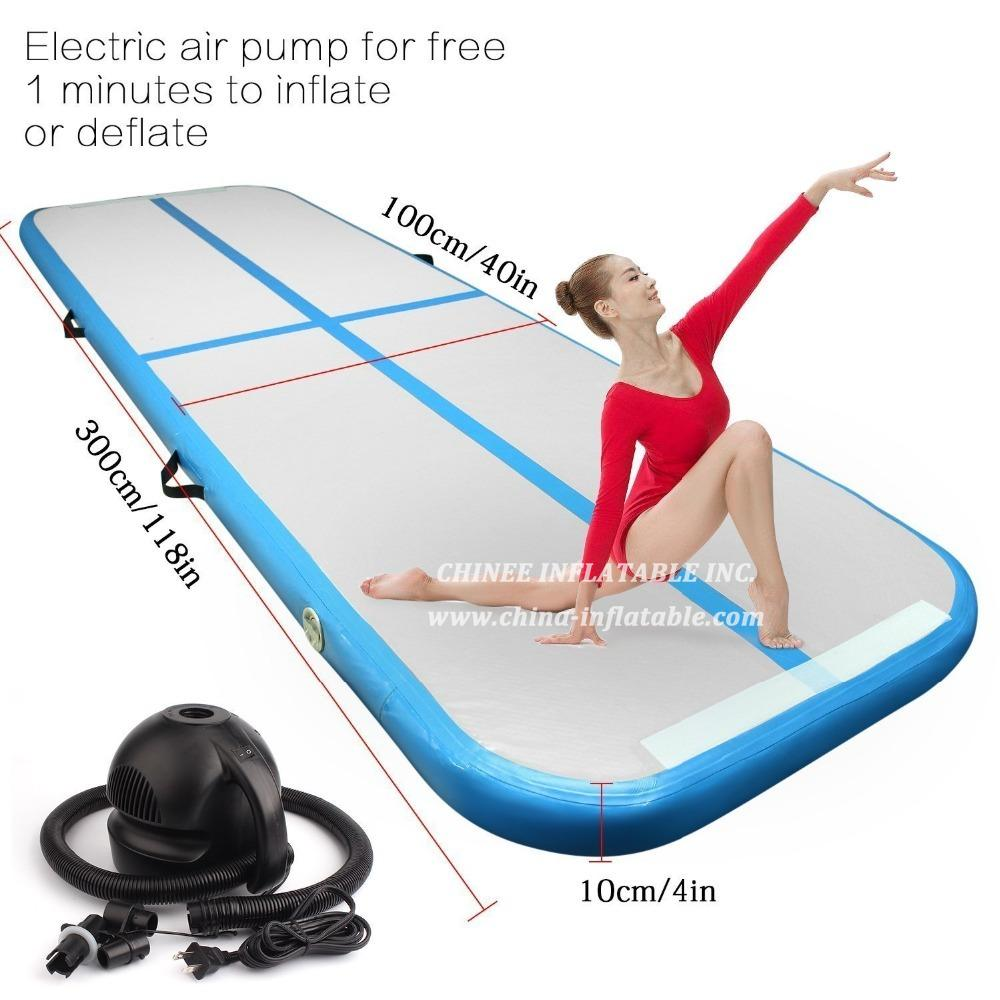 AT1-053 Inflatable Gymnastics Airtrack Tumbling Mat Air Track Floor Mat With Electric Pump Home Use/training/cheerleading/beach/water