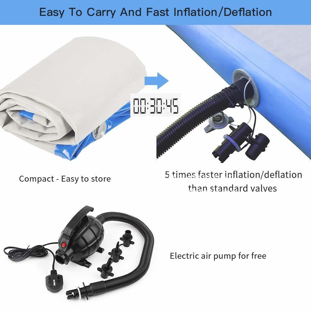 AT1-063 Inflatable Gymnastics Airtrack Tumbling Air Track Floor Trampoline Electric Air Pump For Home Use/training/cheerleading/beach