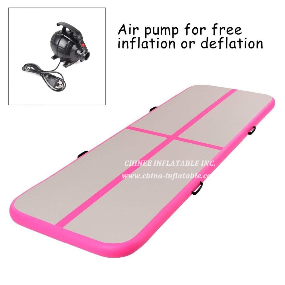 AT1-074 Airtrack Tumbling Inflatable Bouncer Gymnastics Floor Trampoline Electric Air Pump For Home Use/training/cheerleading/beach Gift