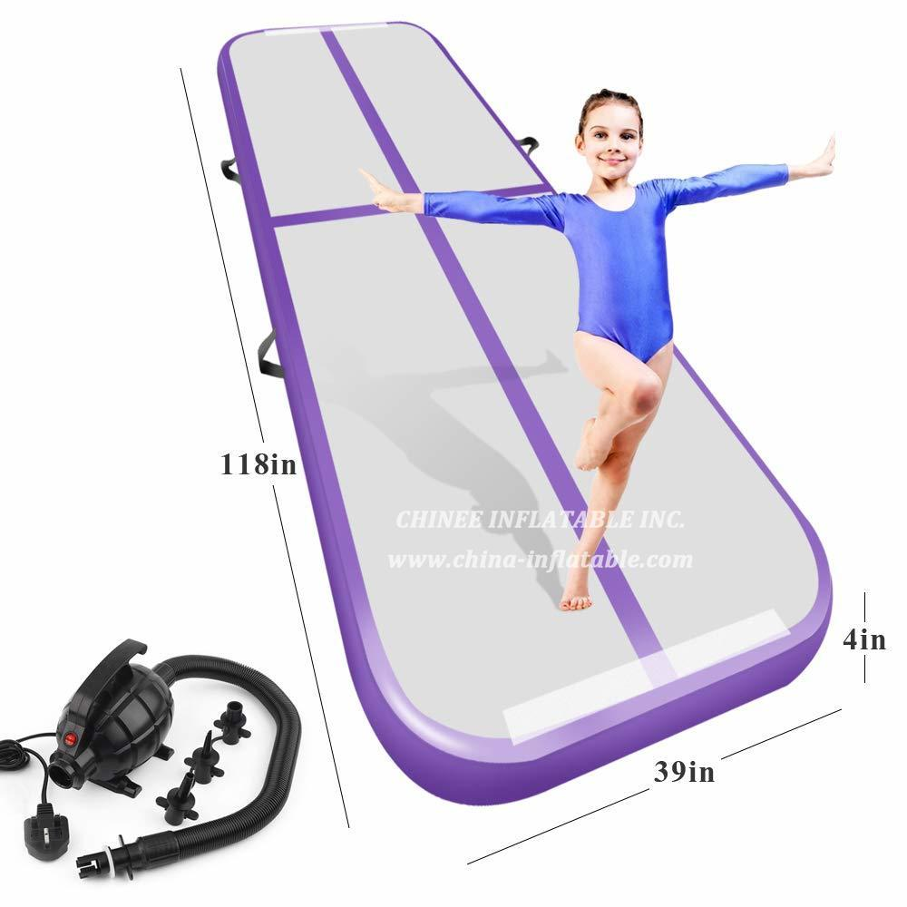 AT1-075 Inflatable Gymnastics Airtrack Tumbling Air Track Floor Trampoline For Home Use/training/cheerleading/beach