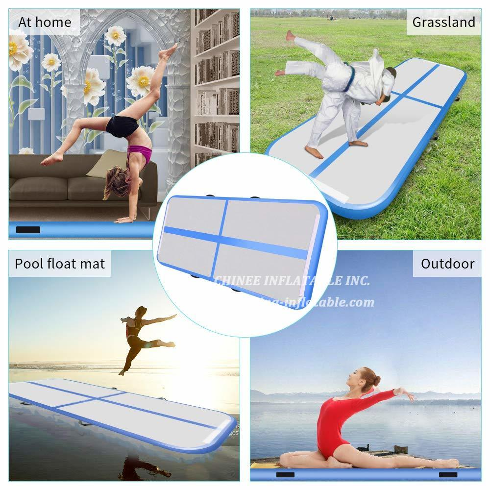 AT1-078 Innflatable Bouncer Gymnastics Air Track Tumbling Floor 6m Trampoline Electric Air Pump Home Use/training/cheerlead/beach
