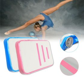 AT1-005 Pink Inflatable Gymnastic Inflatable Air Block Thickness Inflatable Gymnastic Air Block For Sale