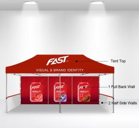 F2-12 10×20 1 Full Back Wall 2 Half Side Wall Folding Tent/Advertising Tent