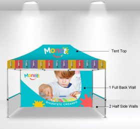 F2-8 10×15 1 Full Back Wall 2 Half Side Wall Folding Tent/Advertising Tent