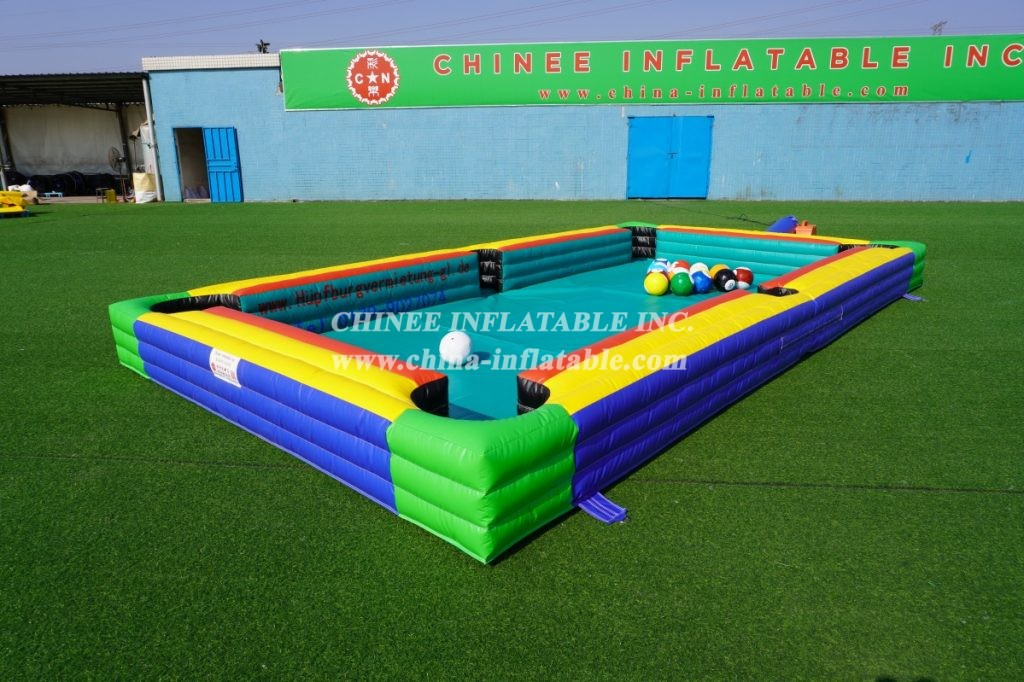 IS11-005 inflatable football snooker  inflatable human billiard table games