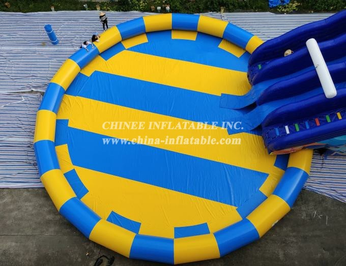 Pool2-730 Water park color large deep pvc inflatable family swimming pool for adults