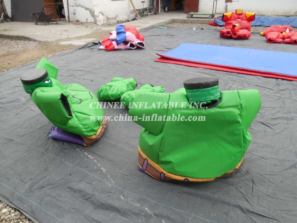SS1-8 Adult Green Warrior Sumo Set