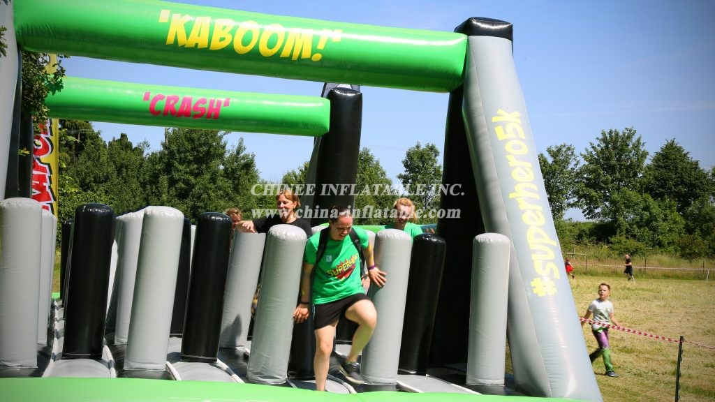 CR1-005 Superhero Challenge Fun 5k challenge with 10 giant inflatable obstacles