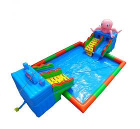 Pool2-725 octopus inflatable floating water park equipment