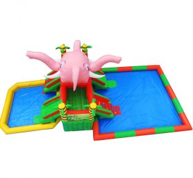 Pool2-724 Little elephant inflatable water park games