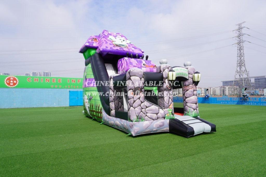 IS3-003 Haunted house inflatable slide Halloween slide