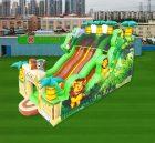 IS3-007 Inflatable Slides Jungle Three Lane Slide