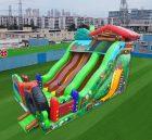 IS3-008 Inflatable Slides Backyard Three Lane Slide