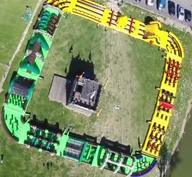 CR1-012 395ft 120m Inflatable Obstacle Course