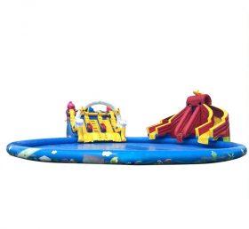 Pool2-721 Kiddies Game Inflatable Water Slide Poo