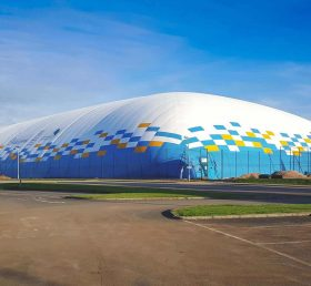 Tent3-012 104m x 65.7m double skin dome over a full football pitch at Leckwith in Cardiff