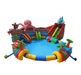 Pool2-718 Eight catch fish commercial giant inflatable floating  water park