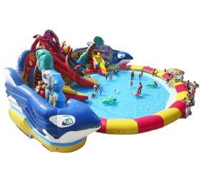 Pool2-727 Sea World Theme Pool Inflatable Park