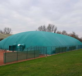 Tent3-010 68.8m x 35.5m double skin dome over 4 tennis courts at Sutton Sports Village