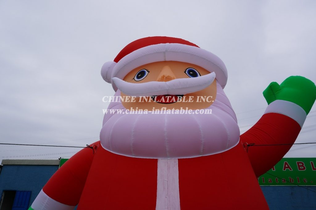 C1-113 4m height outdoor inflatable Christmas Santa Claus decorations