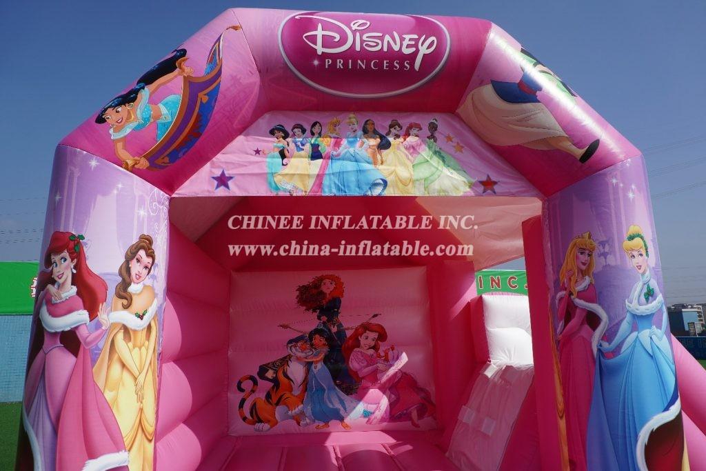 T2-1509 outdoor indoor kids jumper princess pink bouncer castle combo