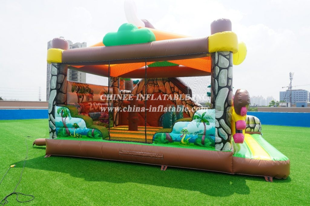 T2-011 Chinee jungle bouncy house with slide