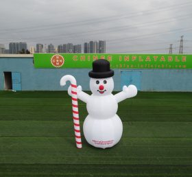 C1-154 Christmas inflatable snowman with the candy cane