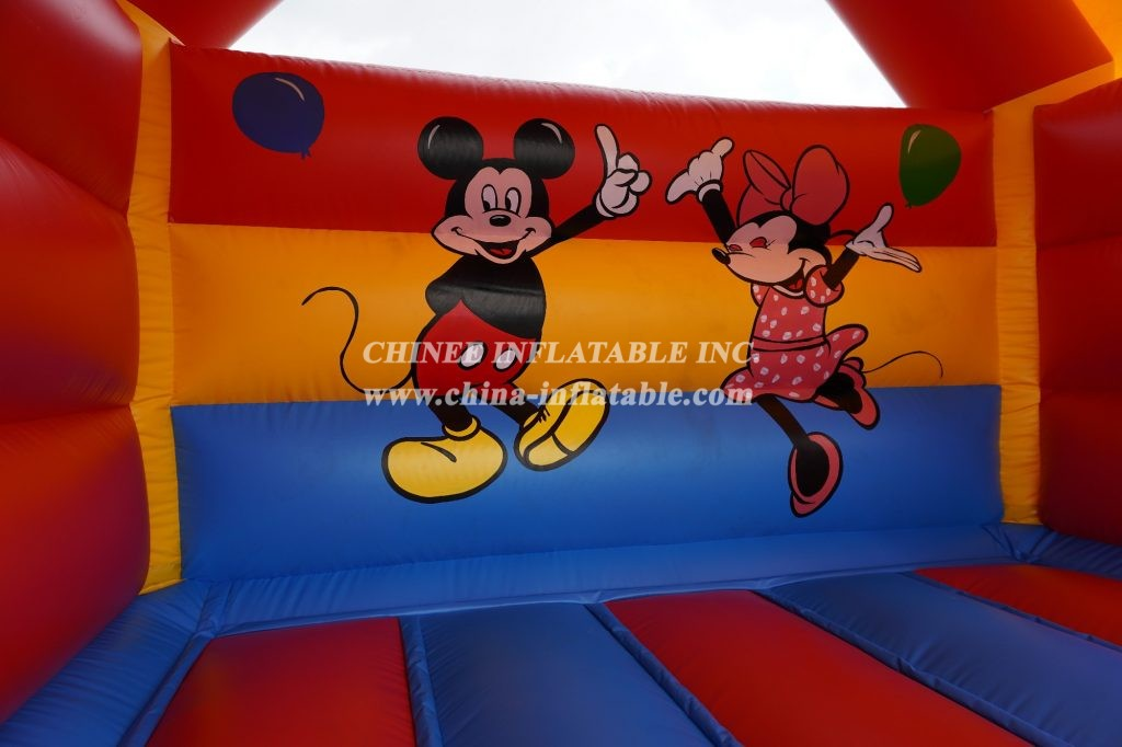 T2-3489 Mickey and Minnie inflatable bouncer