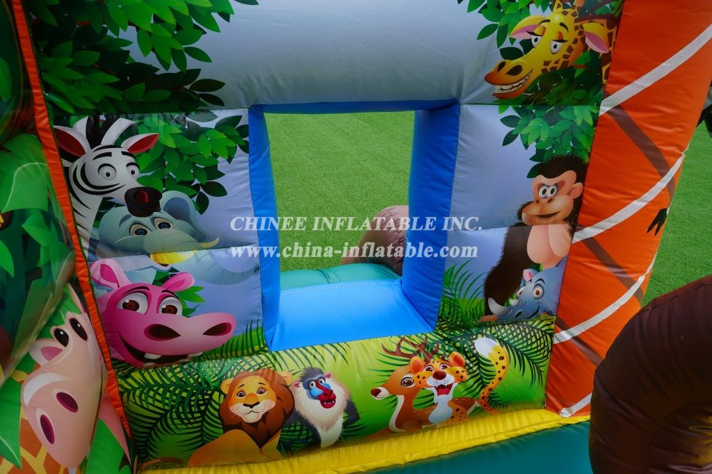 T2-005 Safari park animal bouncer jungle combo