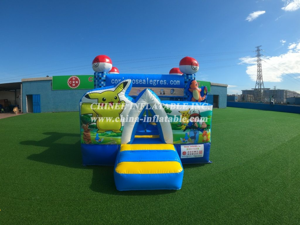 T2-009 Pikachu theme inflatable bouncer