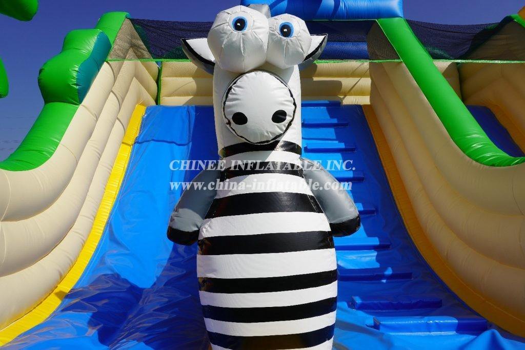 T8-2103 Jungle theme inflatable elephant slide animal inflatable slides