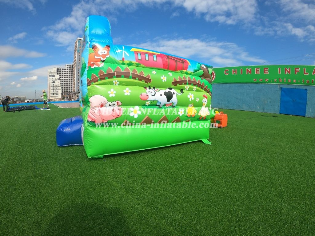 T2-5000 Rainbow theme inflatable bouncer