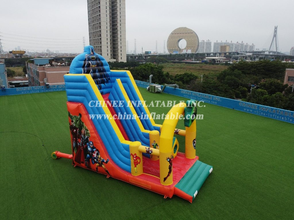 T8-2106 Super Hero Inflatable dry Slide  Marvel Super Heroes slide from Chinee inflatables