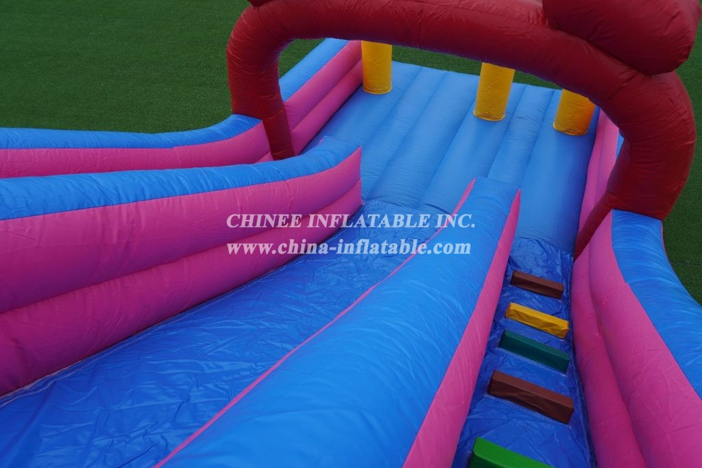 T8-1700 Boonie Bears inflatable dry slide