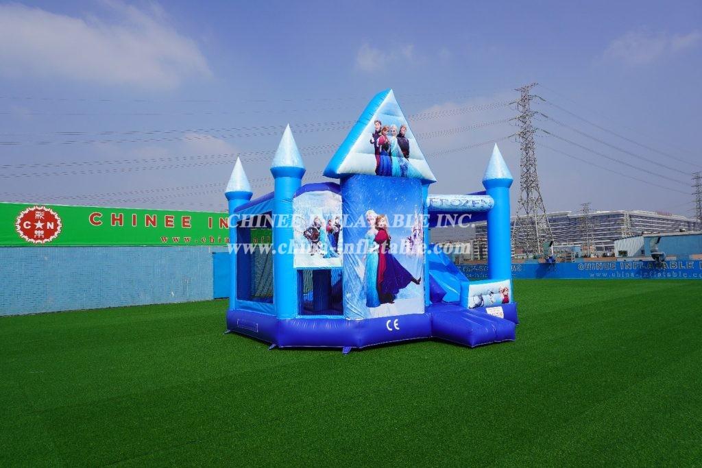 T5-1000 Inflatable frozen combo moonwalk Elsa frozen bounce house