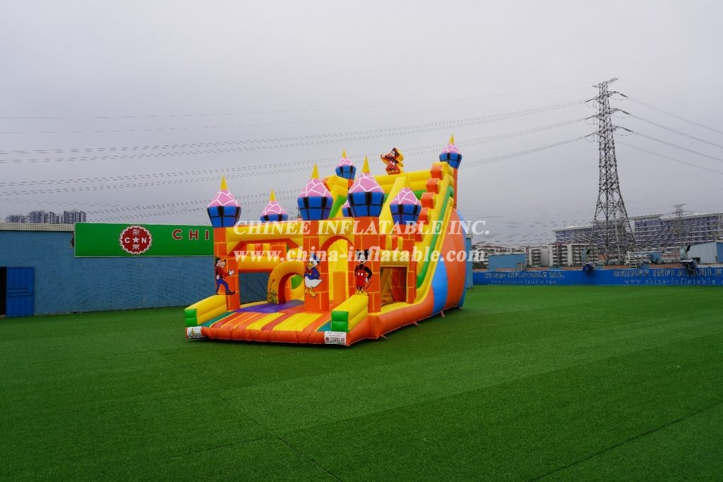 T8-1358 Disney Large slide  inflatable Disney-themed slide Mickey and minnie mouse giant slide from Chinee inflatables