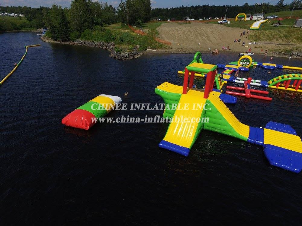 S56 Inflatable water park Aqua park Water Island from Chinee inflatables
