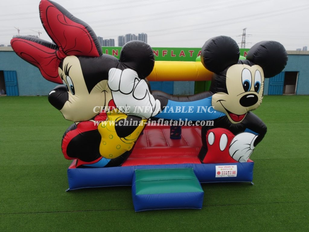 T2-3355 indoor outdoor Mickey & Minnie jumping bouncy house bouncer inflatable for kids from Chinee inflatbles