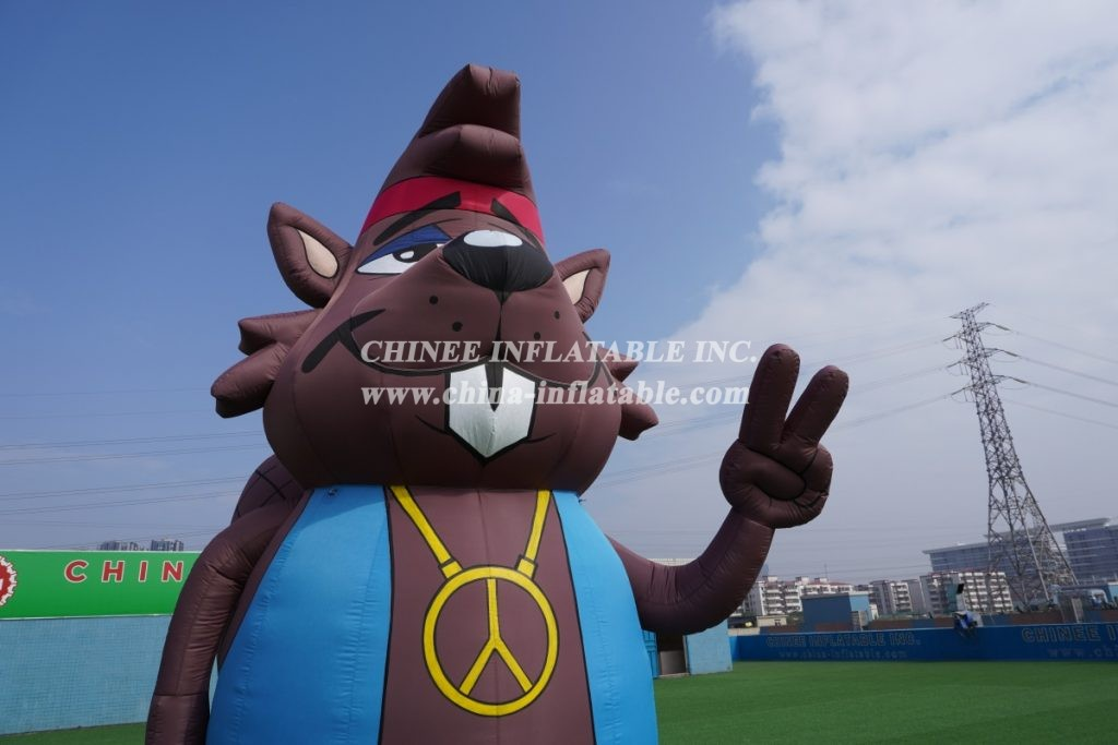 CA-03 giant outdoor inflatable Beaver inflatable character inflatable advertising  5m height