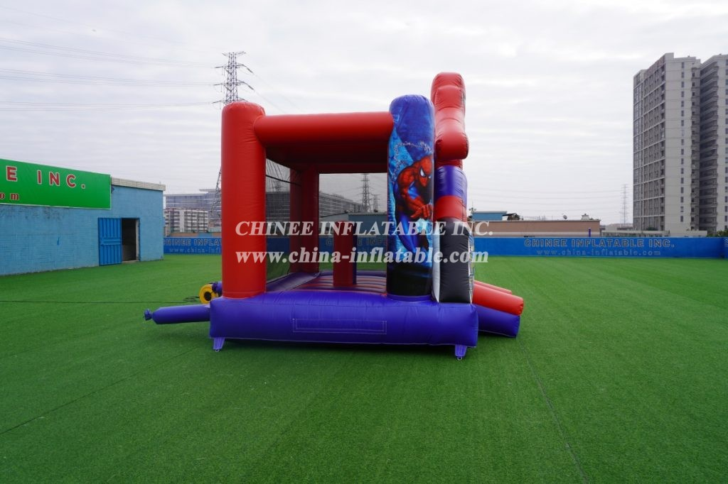 T2-3353  inflatable commercial party fun for kids bouncy castle spider man combo