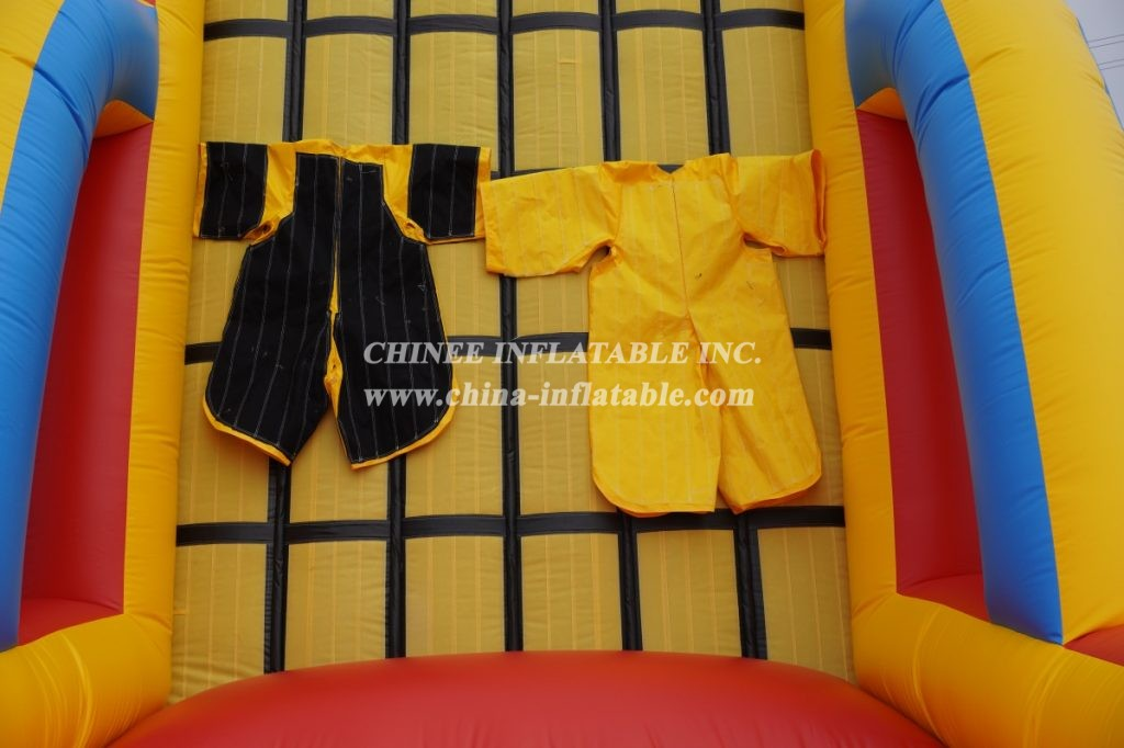 T11-1313 Commercial Outdoor Inflatable Game Inflatable Climbing Wall Sticky Wall With 2 Stick Suits