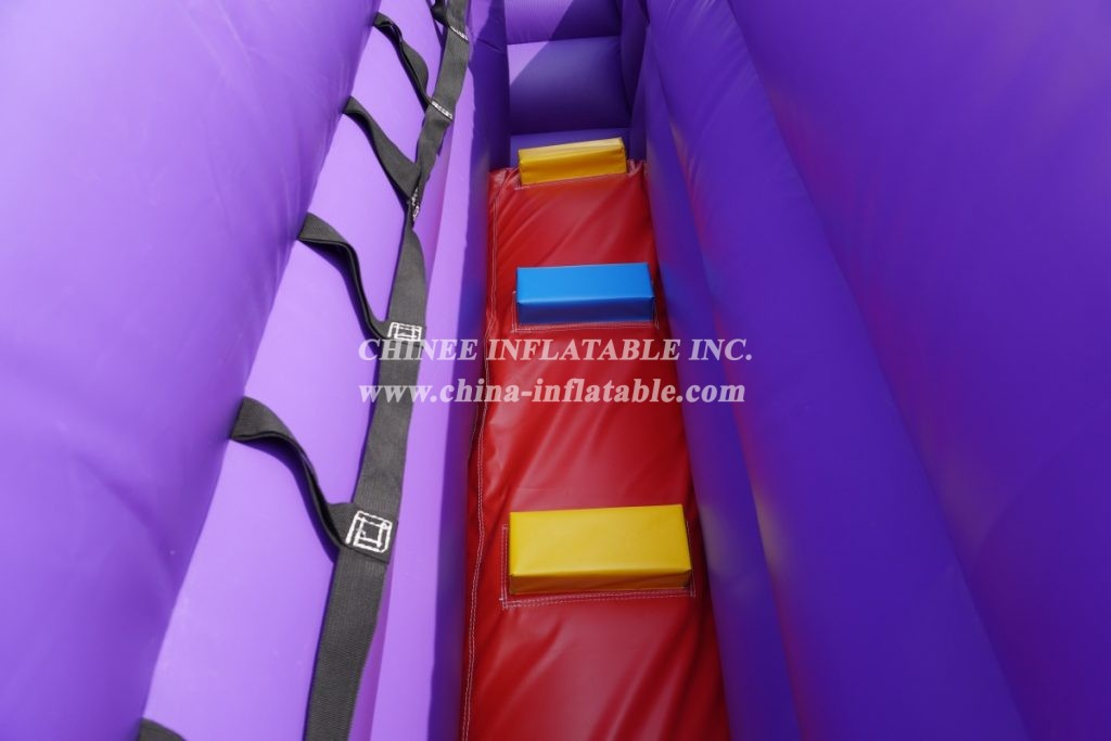 T8-3804B Doctor of Science Bouncy Castle Inflatable Slide Combo for kids fun