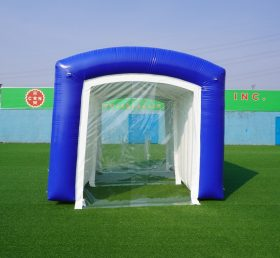 Tent2-1006  inflatable sealed tent with internal transparent partition